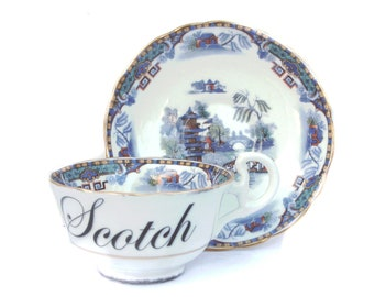 Scotch modifié tasse à thé Vintage