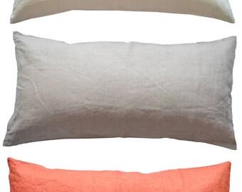 Kissenbezug 40 X 80 Cm Leinen Mit Reißverschluss Viele Farben / Pillow Case  40 X 80
