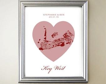 Key West Heart Map