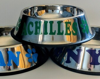 Personalized non-skid aluminum dog bowls - Design Your own!