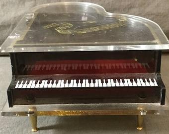 See Thru Musical Jewelry Baby Grand Piano