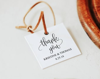 Personalized Favor Tags, Wedding Favor Tags, Rustic Wedding Decor, Thank You Tag Wedding, Wedding Bag Tag, Instant Download, Printable, 6073