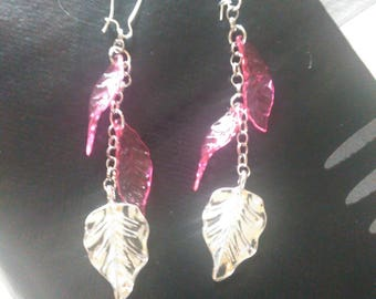 perfect leaf and chain earrings