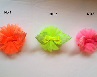 Neon Pink color,neon pink hair clips,neon hair clip, Ansi yellow hair clips,ansi yellow hair clip, Neon orange hair clips,Neon clips
