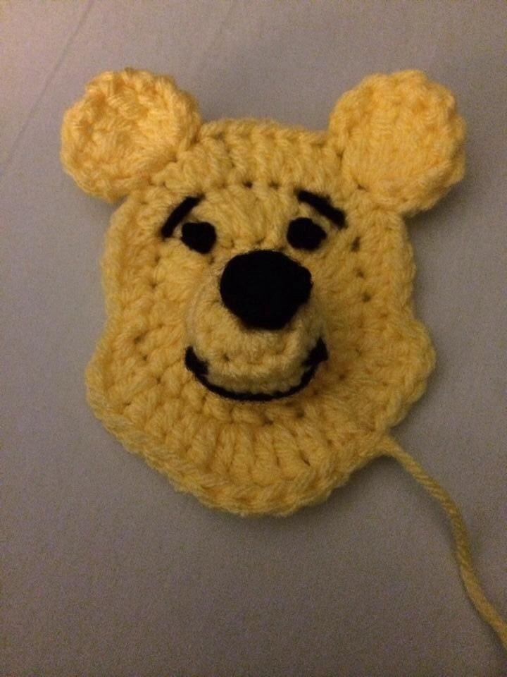 Patrón de apliques de ganchillo de Winnie the Pooh