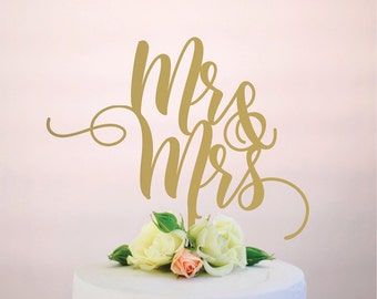 Personalised Mr & Mrs Wedding Cake Topper With Last Name of
