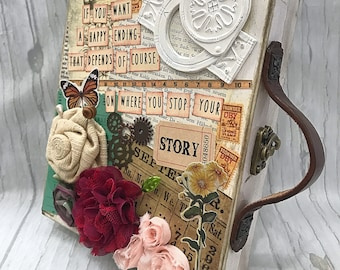 YOUR STORY Suitcase Mini Album 2-ring Binder All Occasion Scrapbook Scrapbooking Vintage Style