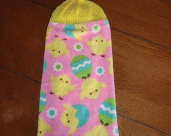 Easter - Chicks & Easter Eggs  Knit Top Kitchen Towels