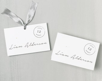 Printable Place Card Template | INSTANT DOWNLOAD | Parcel Escort Card | Editable Colors | Mac or PC | Word & Pages | Flat or Folded