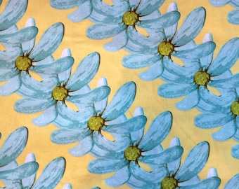 Treetop Fancy by Tina Givens for Free Spirit Westminster FibersTG55 Masy Girl Turquoise Yellow Flower Fabric