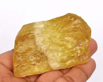 Rough Lemon Topaz Gemstone Supply, Healing Gem Yellow Colour 100% Natural 589.30 Ct Uncut Raw Rough Yellow Lemon Topaz Loose Gemstone B-7149