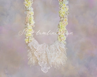 Digital Backdrop Newborn Photography -  Dreamy Flower Swing