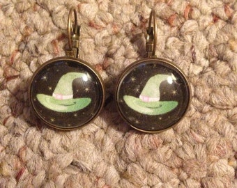 Witch Hat  Image Earrings