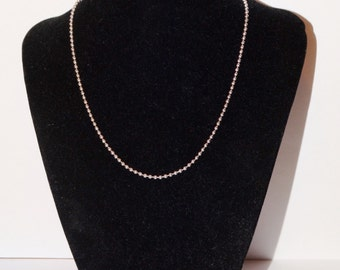"""Sterling Silver Italy Made 6 grams and 16"""" Long Chain."""
