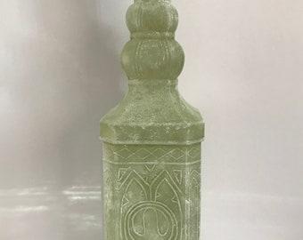 Vintage glass bottle with cork lid