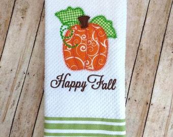 Fall Towel- kitchen towel, bathroom towel, Thanksgiving