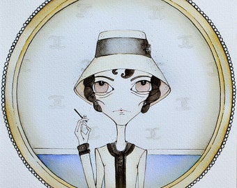Illustration Coco Chanel