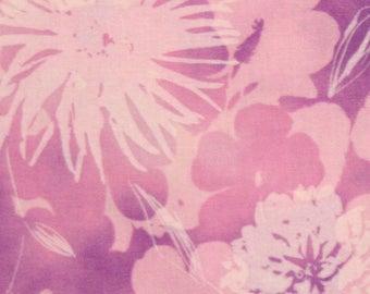 Robert Kaufman Fabric, Mimosa, 10365-192 Spring Mums in Purple