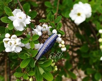 Tildá | Bracelet en cuir de saumon et fil d'étain | Inspiration bijoux scandinaves et finno-ougriens | Tenntråd