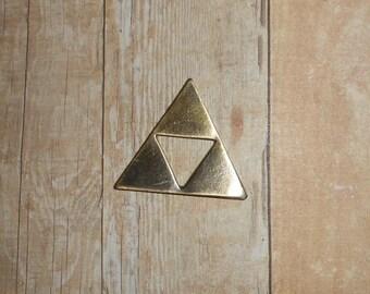 GOLD Legend Of Zelda Tri Force Needleminder // Triforce Needle Minder // Cross Stitch Needle Nanny // Link Video Game Needle Nanny