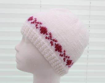 Instant download knitted ladies  fairisle beanie knitting pattern, Beanie, Cap KP391