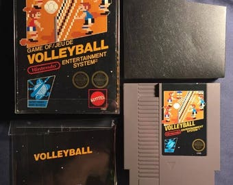 Volleyball Nintendo NES Video Game North American Version Complete From 1987