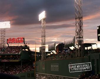 Fenway Park At Twilight, Green Monster, Boston Red Sox, Urban Landscape
