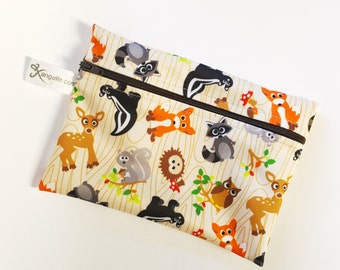 Large Woodland Creatures Reusable Baggie