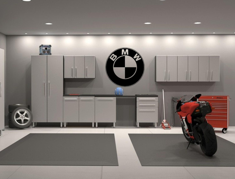 Motorbike Wall Stickers Bmw Embl 232 Me Garage Mur Int 233 Rieur Sticker Decal