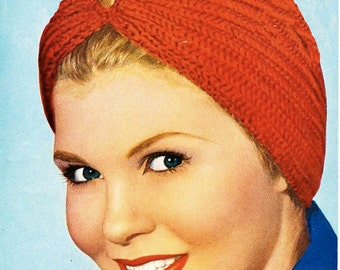 Knitted Turban - Digital Knitting Pattern