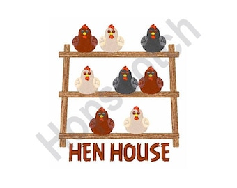 Hen House - Machine Embroidery Design, Chicken Coop