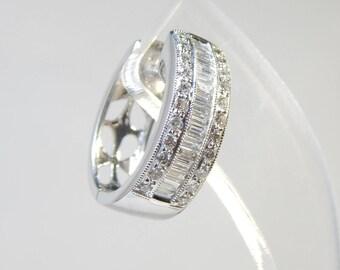 Fascinating 18K White Gold Earring 9.4G(WEIGHT) Diamond 1.28CT
