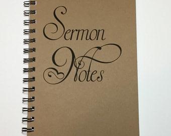 Journal, Sermon Notes, Church Journal, Daily Devotions, Inspirational Journal, Sermon Notes Notebook, Writing Journal, Notebook, Prayer Gift