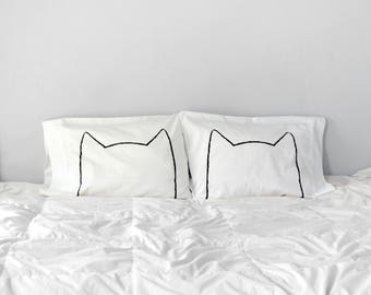 Catnap Pillowcases, Father's Day gift, cat lover gift, housewarming gift, couples gift set, cat bed pillow, funny pillowcase, cat man gift