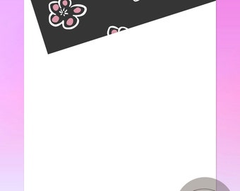 Sugar Plums - Personalized Note Sheets - Set of 25 or 50 Individual Note Sheets