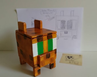 "Box ""Ocelot"" inspired by Minecraft."
