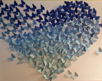 Butterfly Heart Canvas Art