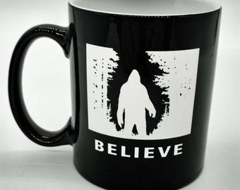 "Bigfoot ""Believe"" Coffee Mug"