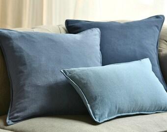Handmade linen pillow cover linen pillow case home decor