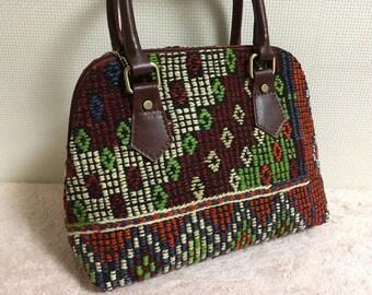 30% OFF FREE Shipping, 2way kilim bag, boho chic bag, Shoulder bag, Handbag, Killimbag