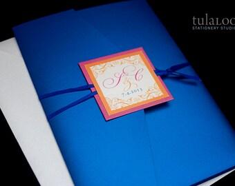 "Elegant Wedding Invitation Sample - ""Denmark"""