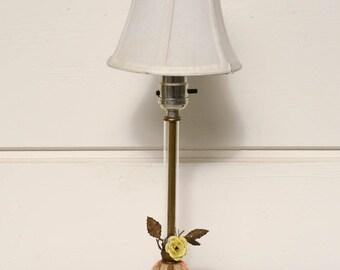 Pink Crystal Lamp, Rose Lamp