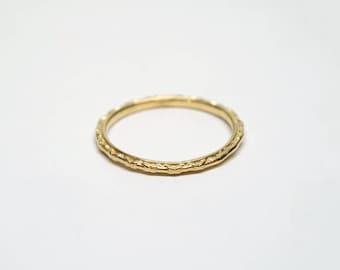 Dainty Ring, 18k Gold Wedding Ring, Slim Gold Band, Thin Stack Wedding Band Ring Women, Minimal Ring, Stack Ring for Her 14k Gold Ring