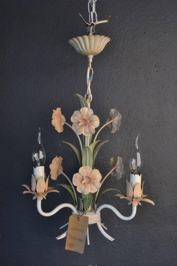 Beautiful tole Flower Chandelier