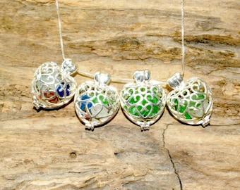 Mothers Day Locket, Heart Locket, Sea Glass Locket, Jewelry For Mom, Sea Glass Jewelry, Beach Gift, Sea Glass, Lake Erie Beach Glass