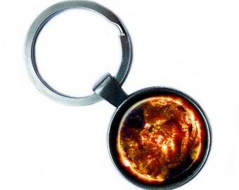 NASA Photograph Sun Fire Keychain Keyring