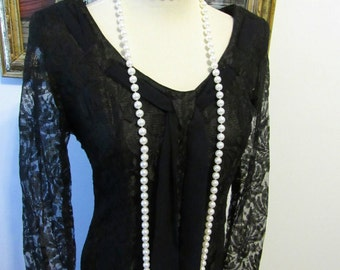 Vintage Black Lace Dress French Style Perfect Black Dress