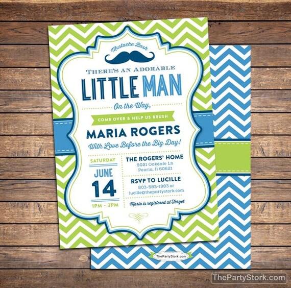 Little man baby shower invitation mustache baby shower like this item filmwisefo Gallery