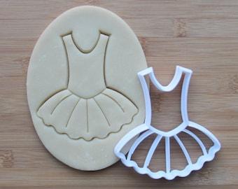 Dance Cookie Cutter 3D Printed | Tutu Cookie Cutter / Ballet Cookie Cutter / Ballerina Cookie Cutter / Dress Cookie Cutter / Dance Party