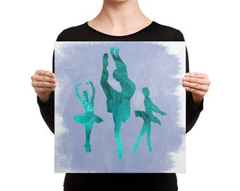 Ballerina Trio (Green) Canvas